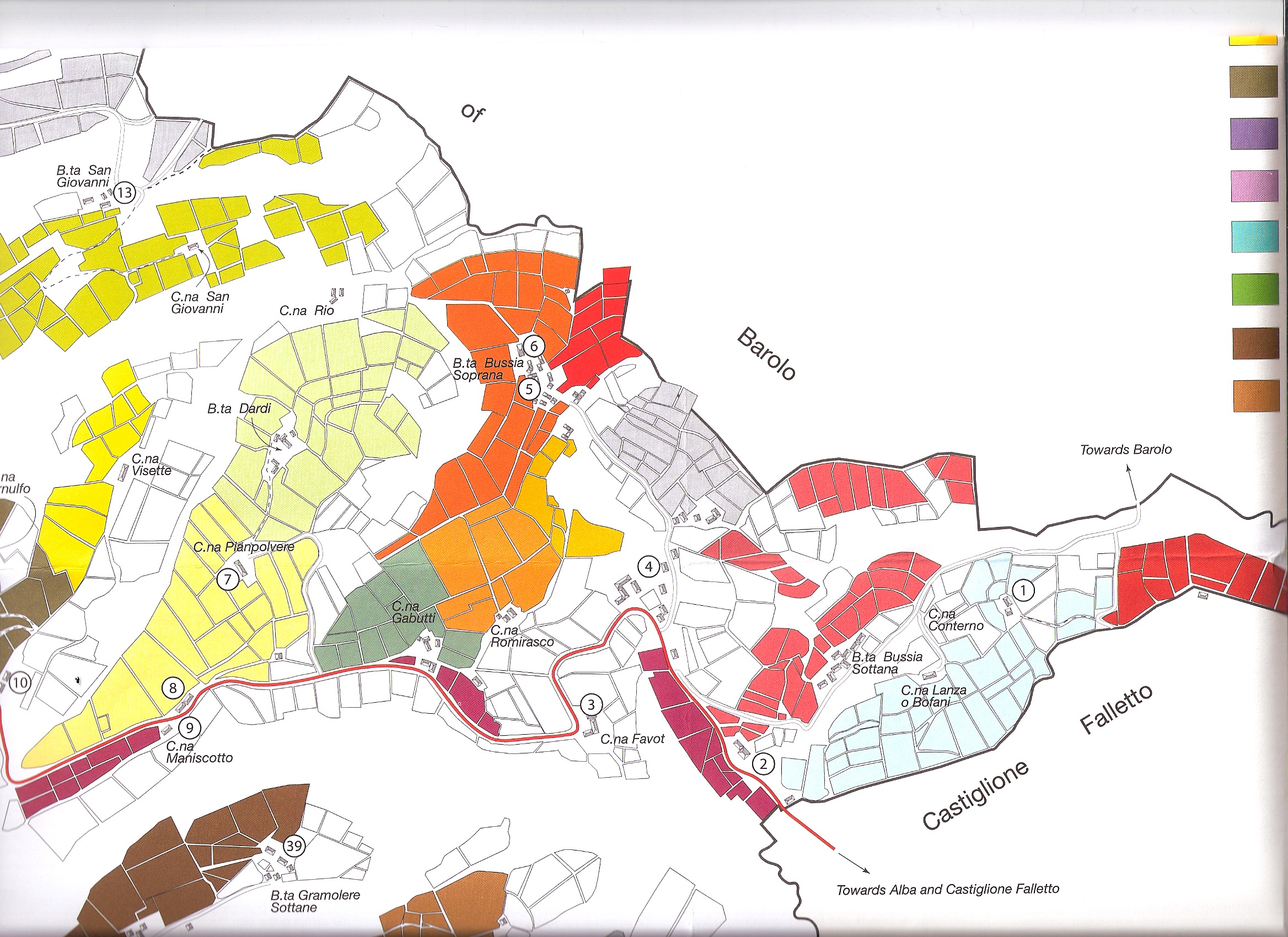 Map of Barolo Wine Region http://ubriaco.wordpress.com/category/other/maps/