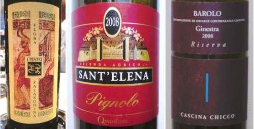 Three Vinifera wines