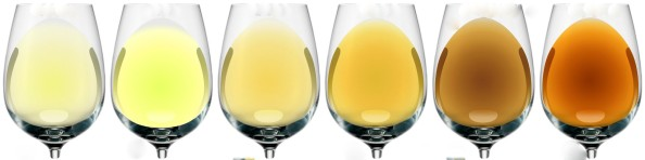 White wine colors