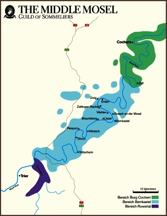 Middle Mosel map