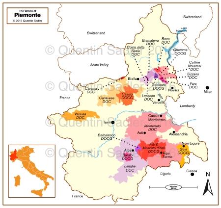Piemonte map